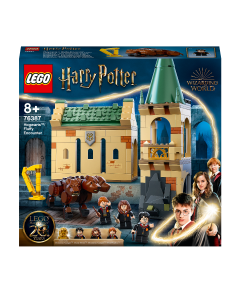LEGO 76387 Harry Potter Hogwarts: Fluffy Encounter Castle Toy Building Set, with 20th Anniversary Golden Minifigure & 3-Headed Dog Figure