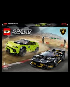 LEGO 76899 Speed Champions Lamborghini Urus ST-X & Lamborghini Huracán Super Trofeo