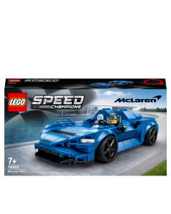 LEGO 76902 Speed Champions McLaren Elva Racing Car Toy for Kids 7+ Years Old, Sports Race Model Building Set
