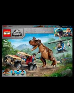 LEGO 76941 Jurassic World Carnotaurus Dinosaur Chase Toy with Helicopter & Pickup Truck