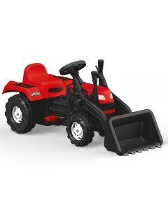 Dolu 8047 Ranchero Pedal Tractor & Scoop Red