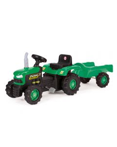 Dolu 8053 Pedal Tractor & Trailer Green