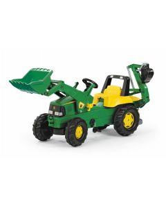 Rolly 81/107/6 John Deere Tractor with Frontloader & Rear Excavator