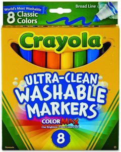 Crayola 58-8328 8  Ultra Clean Washable Broad Markers