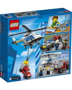LEGO 60243 LEGO 60243 City Police Helicopter Chase Toy with ATV Quad Bike, Motorbike and Truck