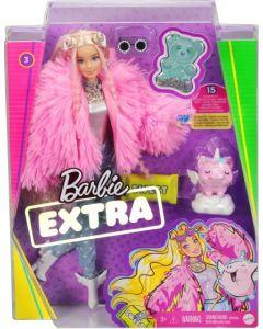 Barbie GRN28 Barbie Extra, Fluffy Pink Jacket