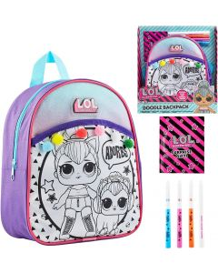 L.O.L. Surprise! Colour Your Own Backpack For Girls, Featuring Lol doll Kitty Queen, Crafts For Kids, Colouring Set with Backpack to Decorate