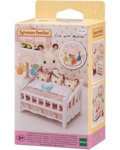 Sylvanian Families 5534 Crib with Mobile