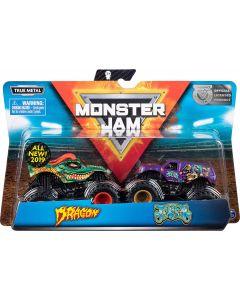 Monster Jam 6044943 - Authentic 2 Pack, 1:64 Scale Die-Cast Monster Trucks (Styles Vary)