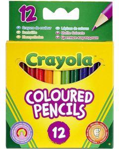 Crayola 03.4112 12 Half Length Pencils