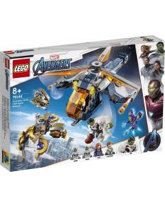 LEGO 76144 Super Heroes Marvel Avengers Endgame Hulk Helicopter Rescue with Hulk Action Figure, Pepper Potts as Rescue , Building Set for Kids 8+