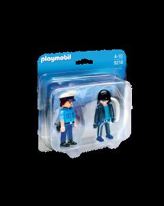 Playmobil 9218 City Life Police Policeman and Burglar