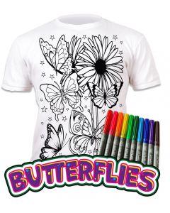 Splat Planet Butterflies T Shirt Age 7-8 Width 43cm Length 50cm