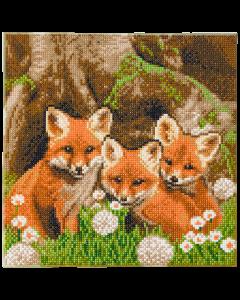"Craft Buddy CAK-A116M: ""Fox Cubs"" 30x30cm Crystal Art Kit"