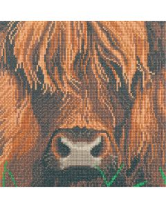 "Craft Buddy CAK-A165M: ""Highland Cow"" 30x30cm Crystal Art Kit"