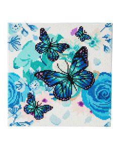 """Craft Buddy CAK-A75: """"Orchids & Butterflies"""" 30 x 30cm (Medium)"""