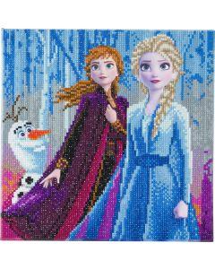 Craft Buddy CAK-DNY700M: Elsa, Anna & Olaf, 30x30cm Crystal Art Kit