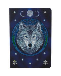"""Crafy Buddy CANJ-11: """"Lunar Wolf"""""""" 26x18cm Crystal Art Notebook ANNE STOKES"""""""