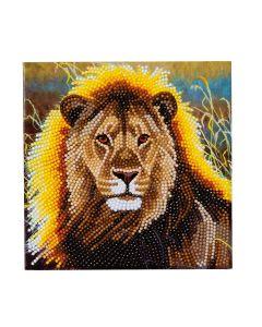 "Craft Buddy CCK-A13: ""Resting Lion"" Crystal Card Kit"