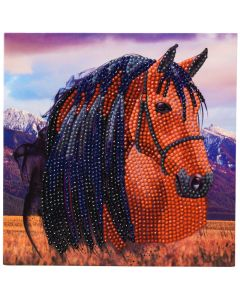 "Craft Buddy CCK-A70: ""Horse"" 18x18cm Crystal Art Card"