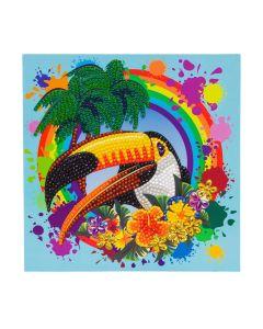 Craft Buddy CCK-A78 Rainbow Toucan Crystal Card Kit