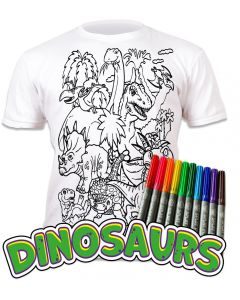 Splat Planet Dinosaurs T Shirt Age 3-4 Width 38cm Length 45cm