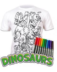 Splat Planet Dinosaurs T Shirt Age 7-8 Width 43cm Length 50cm