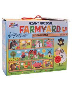 Grafix 12-0423-B Musical Farmyard Puzzle