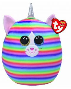 """TY 39289 Squish-A-Boo 10"""" Heather Cat"""