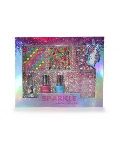 Pink Cosmetics Sparkle Unicorn Nail Art