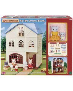 Sylvanian Families 5513 Sky Blue Terrace Gift Set